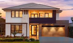 The Bridgetown home design redefines two storey living as it showcases architectural good manners and quality finishes throughout. Modern House Floor Plans, Luxury House Plans, New House Plans, Australian House Plans, Australian Homes, Cottage Design, House Design, House Plans Australia, Mcdonald Jones Homes