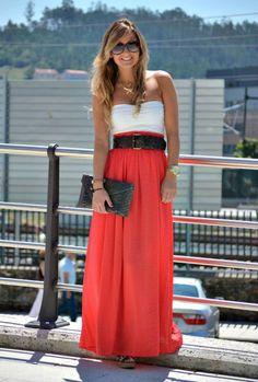 Look & Chic: FALDA LARGA