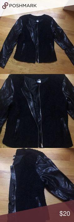 Leather and Wool Jacket Leather and Wool Jacket H&M Jackets & Coats