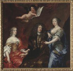 File:Bengt horn af Åminne (1623-1678) med sina två fruar Margaretha Sparre och Ingeborg Banér 1675 - Nationalmuseum - 39326.tif