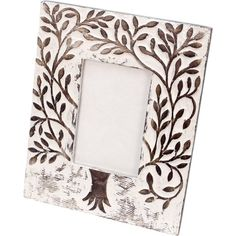 Slip a favourite image into this wooden white washed frame handcrafted in India. Warm, soft and distressed. Mango is a densely grained wood, but also relatively soft and easy to carve so special tools aren't needed, reducing costs. Fits a 4' x 6' frame.