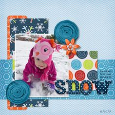 Snow layouts on Pinterest | Snow, Layout and Scrapbook Layouts