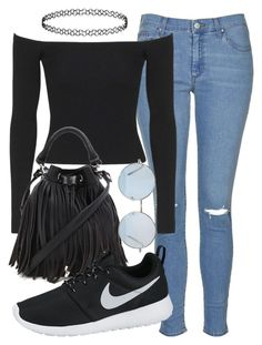 """""""perrie insp"""" by littlemixmakeup ❤ liked on Polyvore featuring Topshop, Forever 21, NIKE, women's clothing, women, female, woman, misses and juniors"""