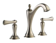 Two Handle Widespread Lavatory Faucet - Less Handles : 65385LF-BNLHP HL5385-BN : Charlotte : bath : Brizo