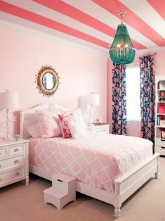 Touch of Pink by Benjamin Moore. I like the wall color and the step stool.
