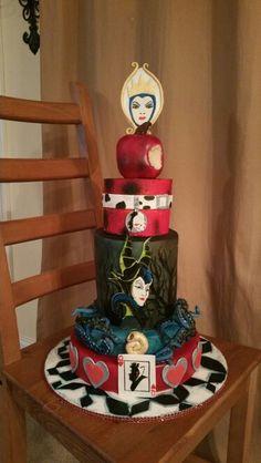 Www.facebook.com/GlazenSpecialtycakes  Disney villians cake