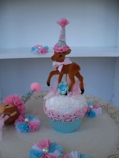 Your place to buy and sell all things handmade Fun Cupcakes, Cupcake Cakes, Amazing Cupcakes, Deer Cakes, Sweet Corner, Cupcake Liners, Cute Cakes, Festival Party, Party Hats