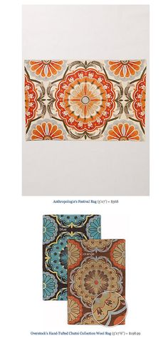 COPY CAT CHIC FIND: Anthropologie's Festival Rug VS Overstock's Hand-Tufted Chutni Collection Wool Rug