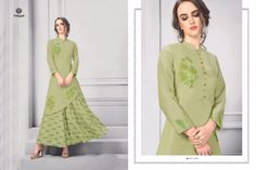 Krishriyaa maslin gown styel long kurtis online wholesaler ,Posh Catalog Wholesaler and Biggest Stockist. Long Kurtis Online, Rayon Kurtis, Party Wear Kurtis, Tunic Tops, Gowns, Lady, How To Wear, Designers, Embroidery