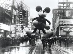 mickey mouse balloon, macy's thanksgiving day parade, 1934