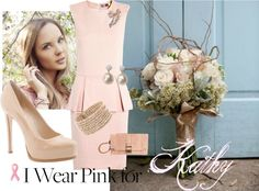 """""""I wear Pink for Kathy"""" by delomaruth on Polyvore"""
