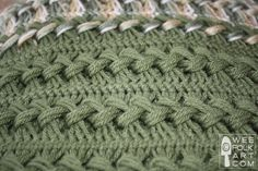 Free pattern for hairpin lace crocheted afghan.  Nice clear instructions with pictures.