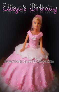 Barbie Doll Cake cakepins.com