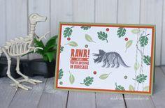 www.conibaer.de - Dinosaur card / Dinokarte #stampinup #gvachieversbloghop #nobonesaboutit