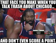 Nene's night after talking trash about the Bulls.