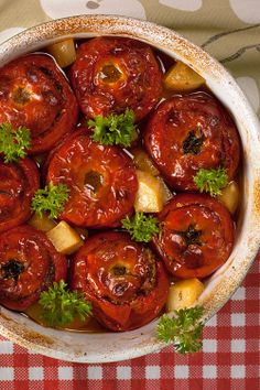 Find out WHAT THE LOCALS EAT BEFORE YOU TRAVEL See what food is eaten in SERBIA such as Stuffed tomatoes, Serbian style Get all the information at http://www.allaboutcuisines.com/local-food/serbia-and-montenegro-yugoslavia #Travel Serbia #Serbian Food #Serbian Recipes