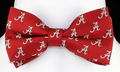 New University of Alabama Mens Bow Tie Pre Tied Adjustable Red College Bowtie #EaglesWings #BowTie