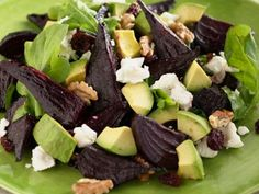Beet and Goat Cheese Arugula Salad #Avocado #Salad #Giada