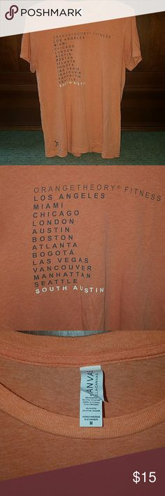 """Orangetheory """"City T"""" Soft material. More of a men's fit. South Austin is the featured studio name. Tops Tees - Short Sleeve"""