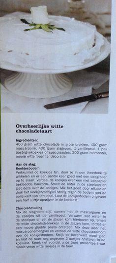 Witte chocoladetaart als variatie op de bekende monchoutaart. Wonen landelijke stijl