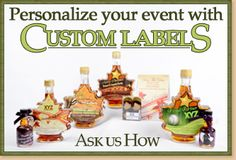 Custom designed labels for your White Meadows Farms maple syrup wedding favors or corporate party gifts!
