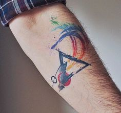 Tiny Tattoos — Watercolor tattoes