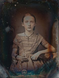 Undated daguerrotype (sp?) of a young girl