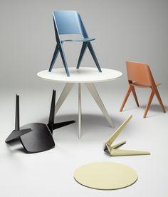 La colección Lavitta cuenta con una mesa redonda, una mesa rectangular y una silla. La silla está hecha con madera domada contrachapada reciclada, que, aunque no se puede apilar verticalmente con sus iguales, se puede apilar horizontalmente. Actualmente están desarrollando una versión tapizada de la silla