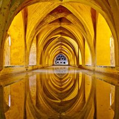 Baths of Dona Maria de Padilla, The Royal Alcazar Palace, Sevilla, Spain Pablo Picasso, Amazing Architecture, Architecture Design, Mellow Yellow, Places To See, Beautiful Places, Around The Worlds, Instagram, Pictures