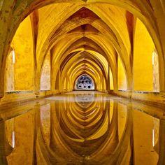 Baths of Dona Maria de Padilla, The Royal Alcazar palace - Sevilla (o pinned with @PinvolveLove