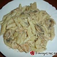 Πέννες με κοτόπουλο αλα κρεμ Cookbook Recipes, Dessert Recipes, Cooking Recipes, Desserts, Cabbage, Spaghetti, Food And Drink, Pasta, Meat