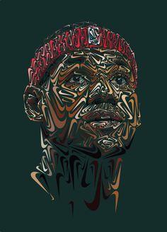 LeBron James 'Nike Swoosh' Portrait