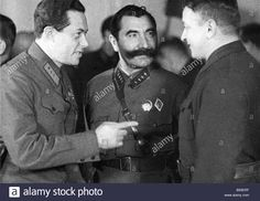 Download this stock image: Left to right Soviet military leaders Iona Yakir Semyon Budenny and Mikhail Tukhachevsky during the Russian Civil War - B93ERF from Alamy's library of millions of high resolution stock photos, illustrations and vectors.