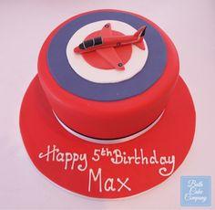 Birthday Cake Decorated with a Handmade Sugar Model of an Aeroplane by Bath Cake Company