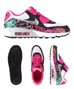 NIKE AIR MAX 90 PRINT GS PLATINUM METALLIC SILVER PINK 704953 001 $145