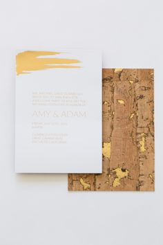 Yonder Design | Custom Event Design, Wedding Inspiration, Custom Invitations, Unique Invitation, Letterpress, Graphic Design, Modern Wedding, Elegant, Simple, Clean, Etched,  Luxury Wedding, Willow Tree, Cork and Moss, Luxury Invitation, Gold Foil, Brush Stroke, Inlaid Gold Cork, Welcome Dinner