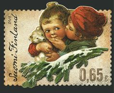 Christmas postage stamp Finland by Ari Lakaniemi, Susanna Rumpu Christmas Mail, Vintage Christmas Cards, Christmas Images, Commemorative Stamps, Postage Stamp Art, Love Stamps, Small Art, Scandinavian Christmas, Photo Postcards