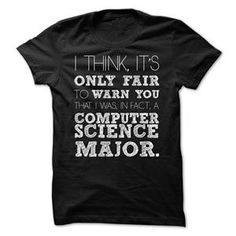 AWESOME COMPUTER SCIENCE MAJOR SHIRT