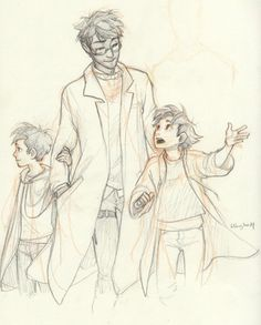 one of my favorite burdge drawings. <3 harry, james and al.