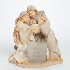 Foundations Holy Family With Votive Figurine