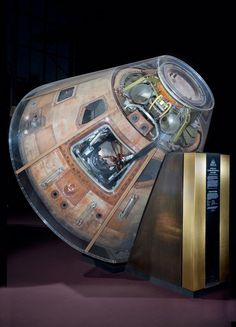 """On July 16, 1969, Apollo 11 launched on the first mission to land humans on the Moon. Launched atop a Saturn V rocket, this spacecraft, the command module """"Columbia,"""" carried astronauts Neil A. Armstrong, Michael Collins, and Edwin """"Buzz"""" Aldrin to the Moon and back."""