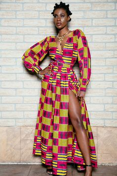African print wrap dress by ofuure on Etsy ~African fashion, Ankara, kitenge, African women dresses, African prints, Braids, Nigerian wedding, Ghanaian fashion, African wedding ~DKK