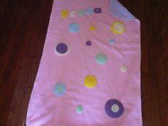 Fleece Baby Blanket: Pink Mauve Dots