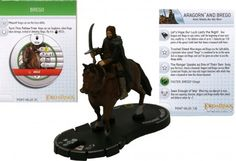 Aragorn and Brego #032 (W/ Mount Token) Lord of the Rings Two Towers Heroclix