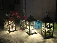 Led Lantern, Lanterns, Craft Supplies, My Etsy Shop, Greeting Cards, Diy Projects, Craft Ideas, Party, Crafts