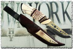 Knives made by the Swedish knife makers Jonny Walker Nilsson and Mattias Styrefors