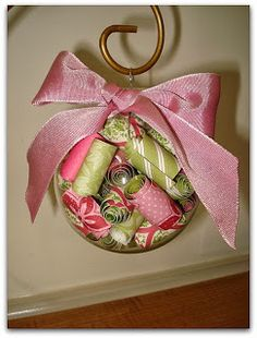 Stamp and Sew For Fun: Paper Coil Glass Ball Ornament Video