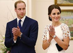 Royal Tour 2014: Prince William and Kate visit Canberra on Day 18 of their tour of Australia and New Zealand.  Prince WIlliam and Kate at Government House. The duchess was dressed in a cocktail dress designed by Lela Rose