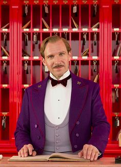 Ralph Fiennes as Mr Gustave in The Grand Budapest Hotel   HE WAS PERFECT in THE GRAND BUDAPEST HOTEL. PLEASE GO SEE THIS FILM