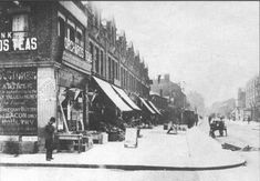 A street in Poplar, East London 1800s. It is thought that the name comes from the many Poplar trees that grew in the area. (Thanks to Rosemary Taylor ELHS)